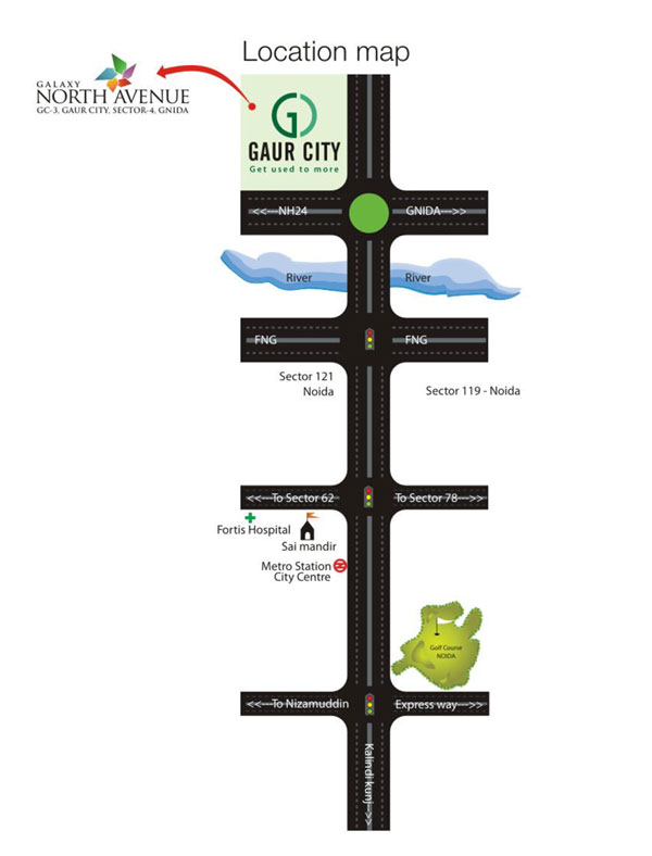 Galaxy North Avenue Location Map