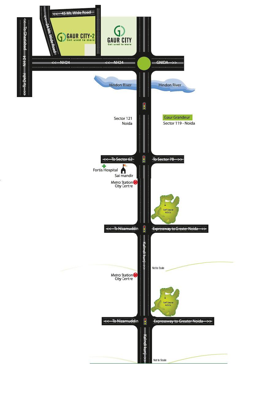 gaur 7th Location Map