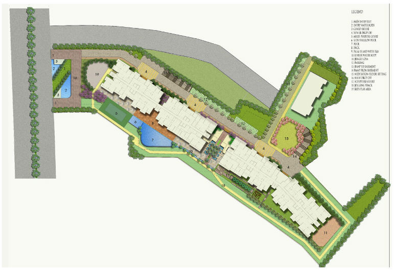 Mahagun Montage Site Plan